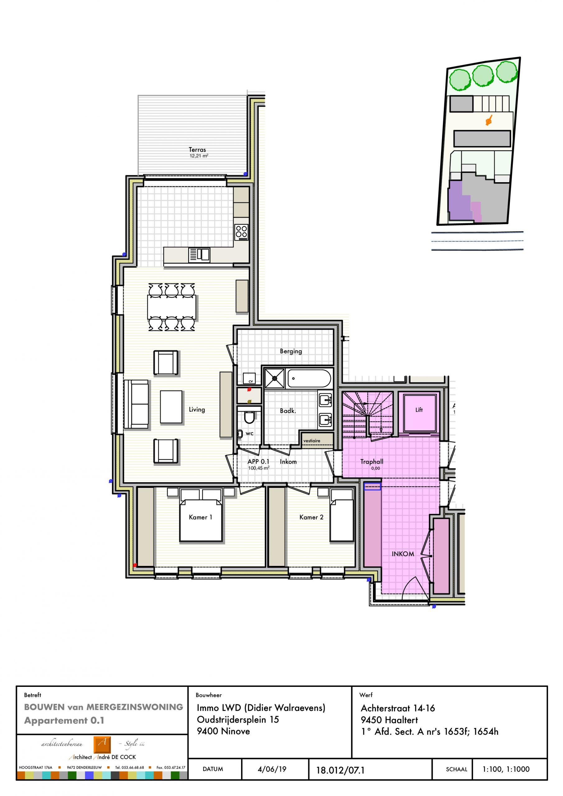 VERKOCHT -  gelijkvloers appartement 1