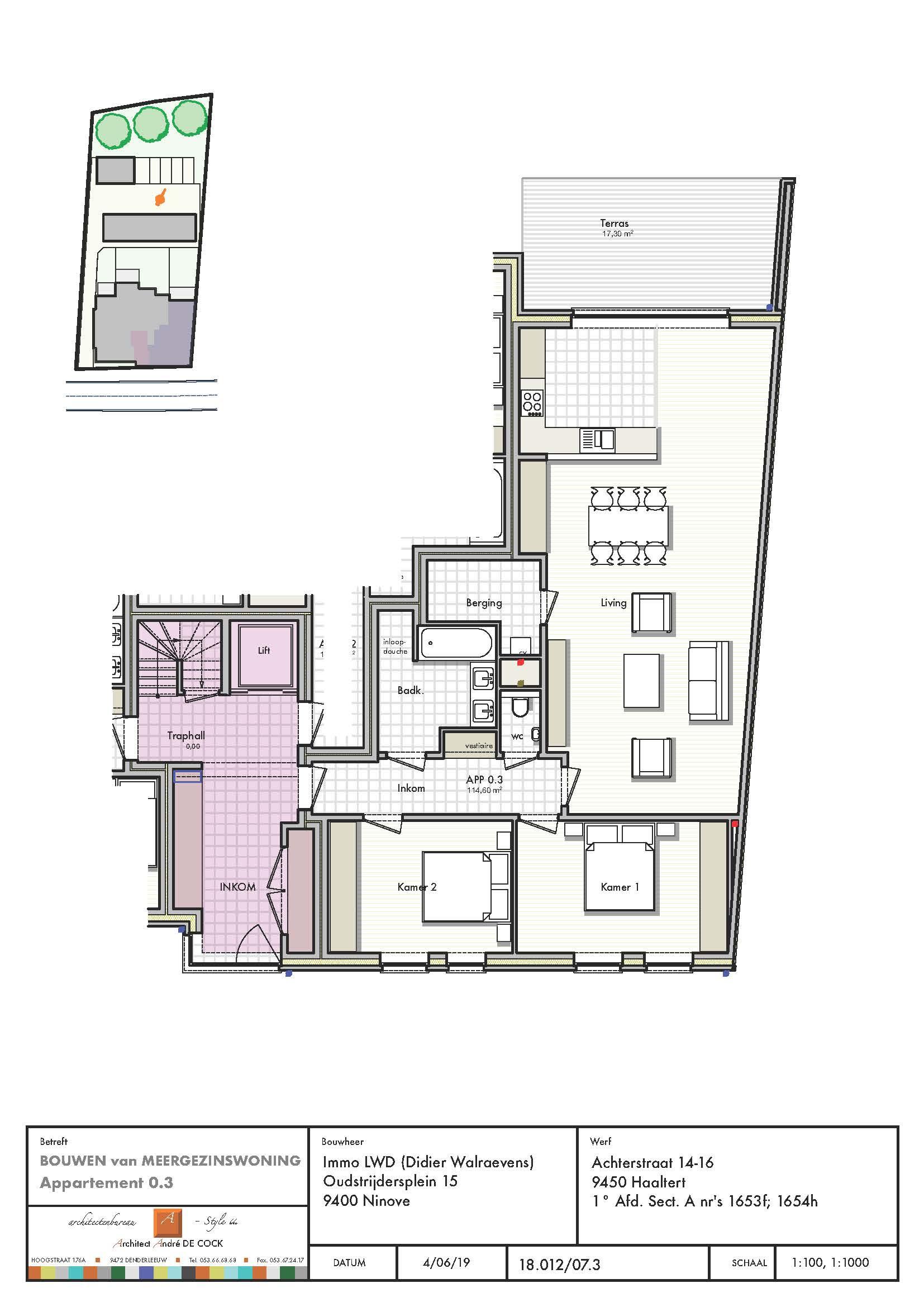 gelijkvloers appartement 3