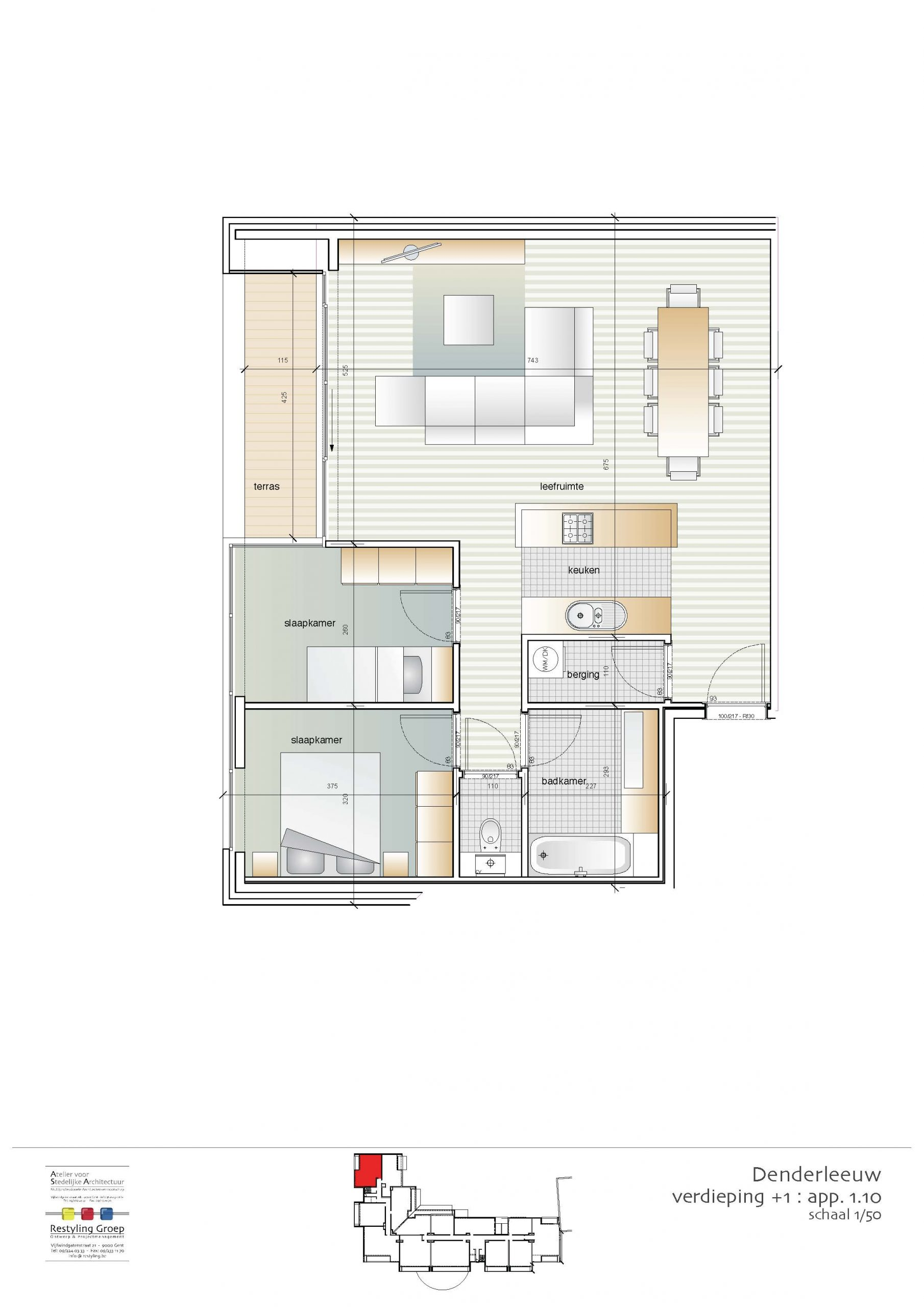 Verdieping 1 - Appartement