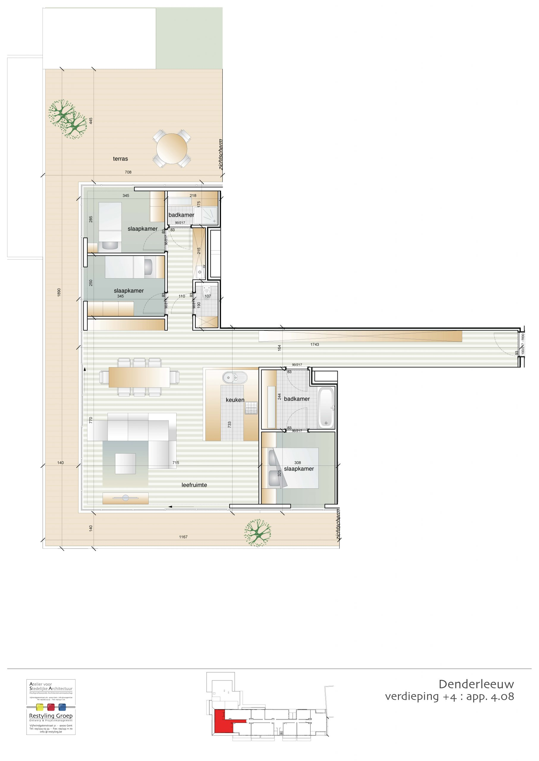 Verdieping 4 - Appartement